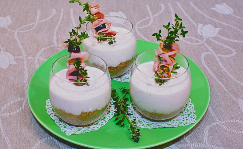 Cheesecake salate monoporzione alla porchetta_home